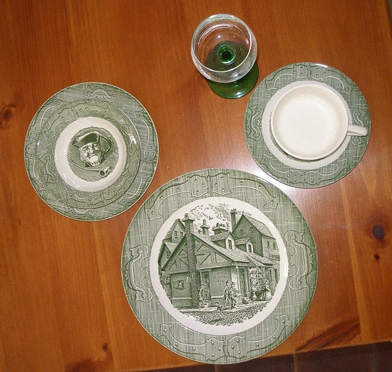 New (to Her) China/Dishes