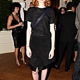 Jessica Joffe stepped out in head-to-toe black at Italian Style: 8 Short Videos X 8 Long Stories.