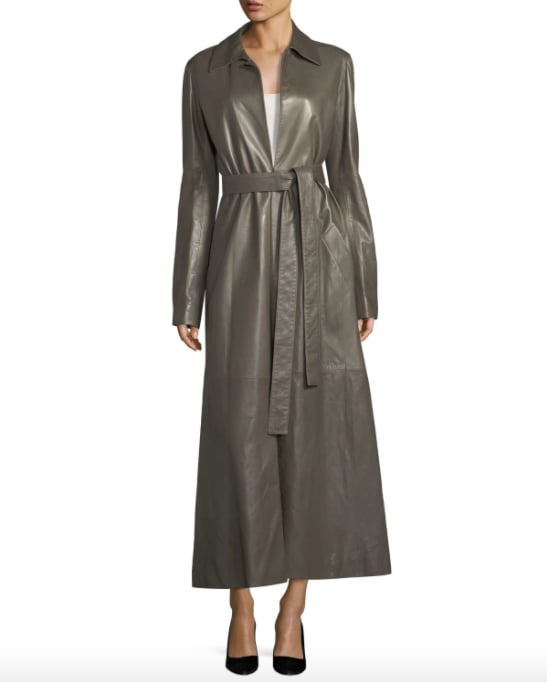The Row Neyton Long Leather Trench Coat