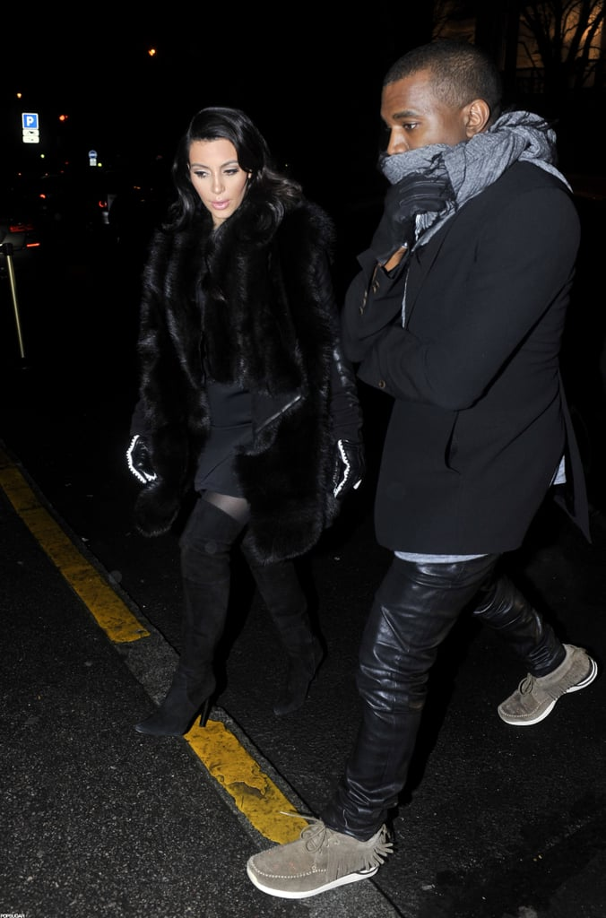 f893a29f9 Kim Kardashian and Kanye West stepped out for dinner at Lasserre Restaurant  in Paris last night. Share This Link