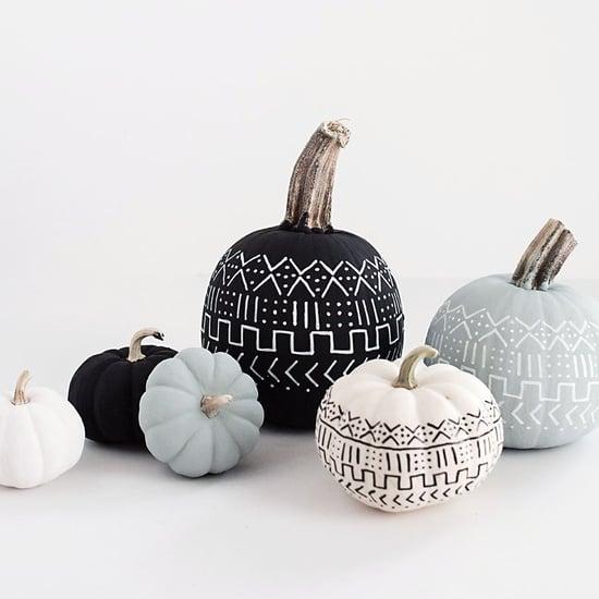 DIY Mudcloth Pumpkins