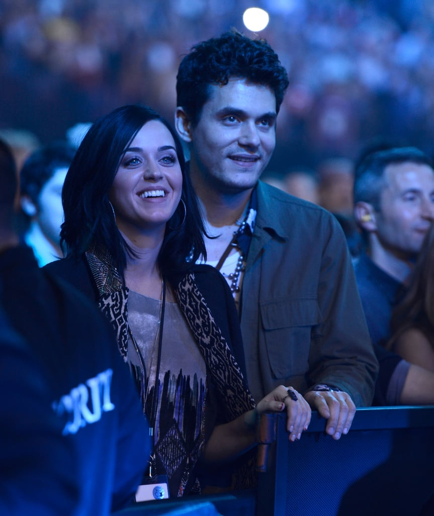 Katy Perry and John Mayer were at The Rolling Stones concert in NYC.