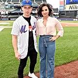 Demi Lovato Wearing Flared Jeans at Citi Field July 2016