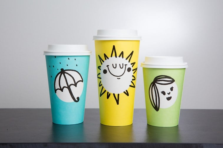 Get your Instagrams ready: Starbucks just announced their first ever Spring cups, which come in three different shades of pastel. While the company is mostly known for its (sometimes controversial) holiday cups, something tells us you'll feel nothing but joy holding these gorgeous yellow, turquoise, and light green cups in your hand this Spring.  In addition to the bright colors, the new cups will also feature Spring-related doodles, including an adorable hand drawing of a bunny rabbit, among others. There's also white circles on each of the cups to allow customers to create their own fun designs in place of the Starbucks logo. The cups will be available for a limited time only in the United States and Canada starting March 16. Keep reading to see all of the cutest Starbucks Spring cups ahead.      Related:                                                                                                           Every Diehard Starbucks Fan Will Want This Latest Exclusive Release
