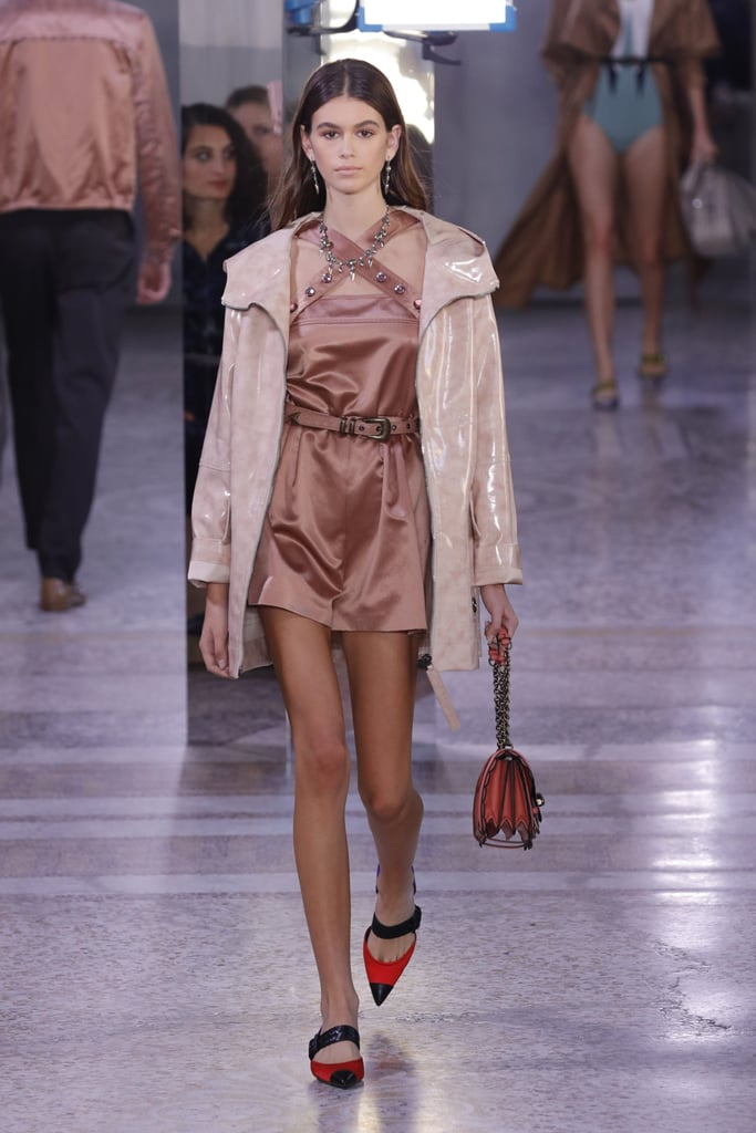 Kaia Walked the Bottega Veneta Runway in a Pair of Adorable Flats