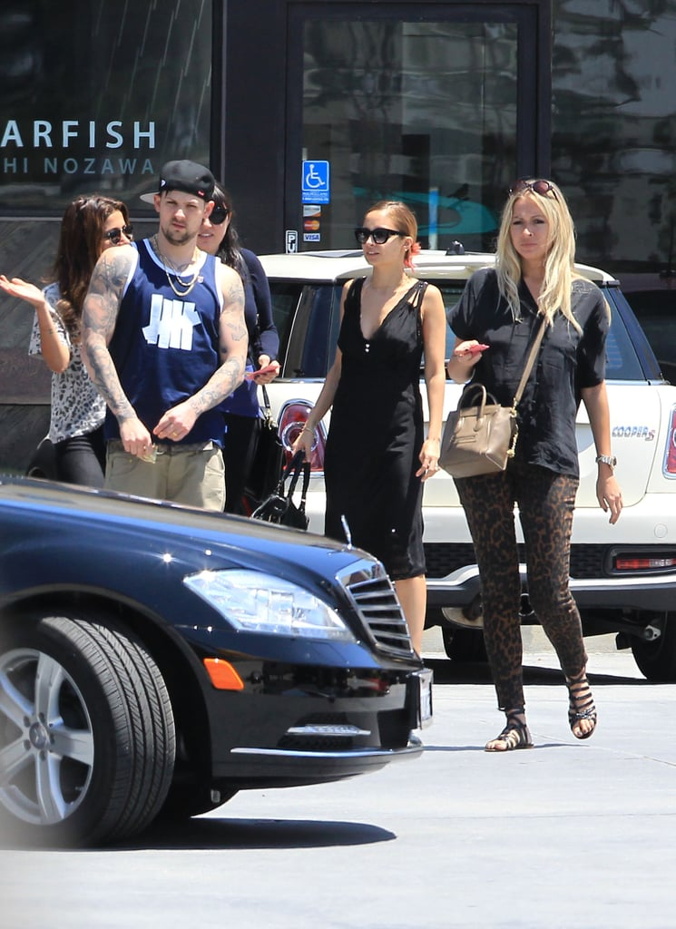 Nicole Richie and Joel Madden Get Back to LA and Their Circle of Friends