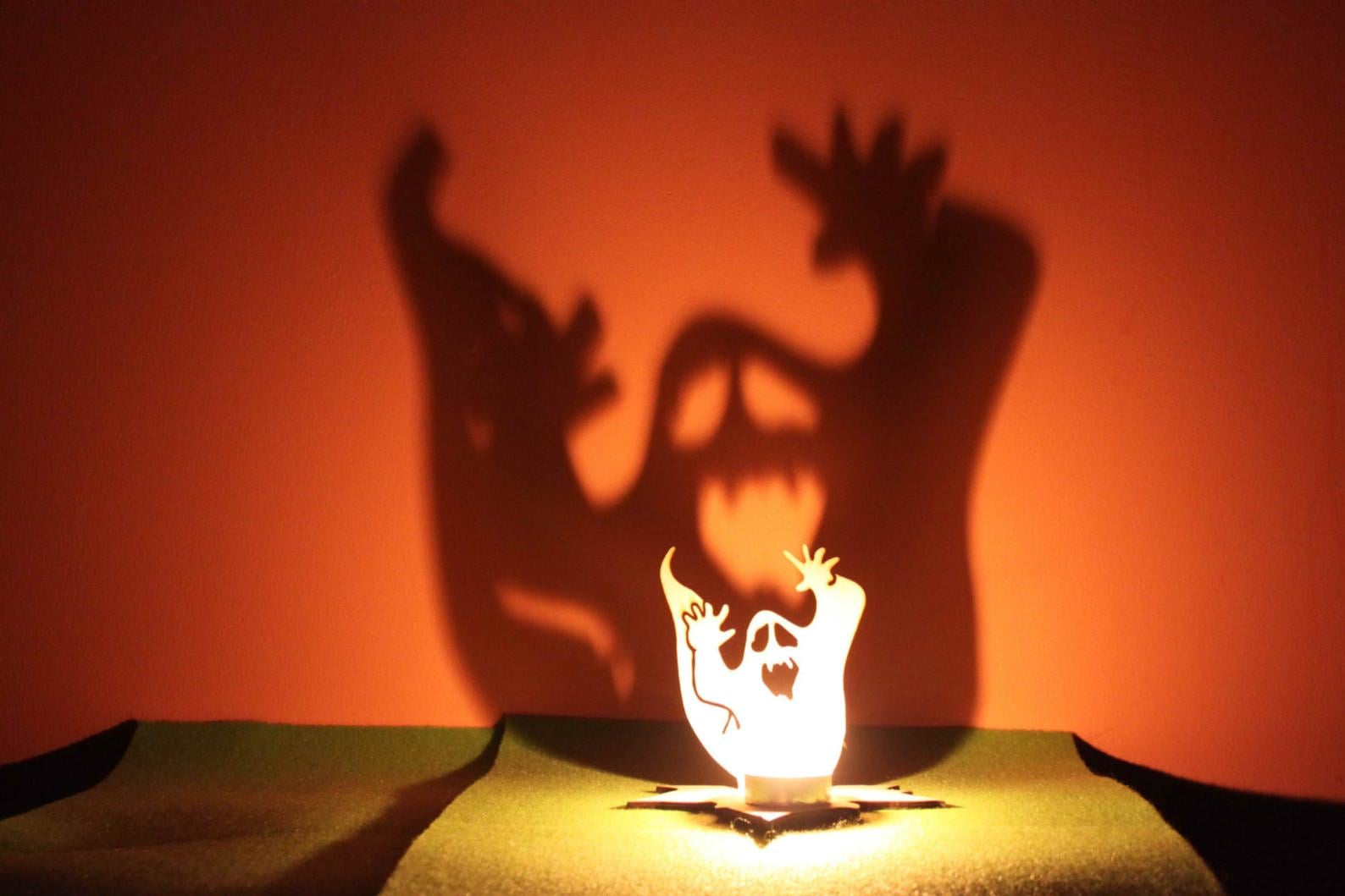 Halloween Tea Light Garden Lantern