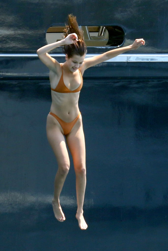 Bella Hadid Was Seen Wearing an Orange Bikini by I Am Zazie