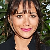 Rashida Jones was at the LA Dance Project Gala, too. She wore her hair pulled back with her bangs framing her face. She added a pop of color with a soft magenta lip color.