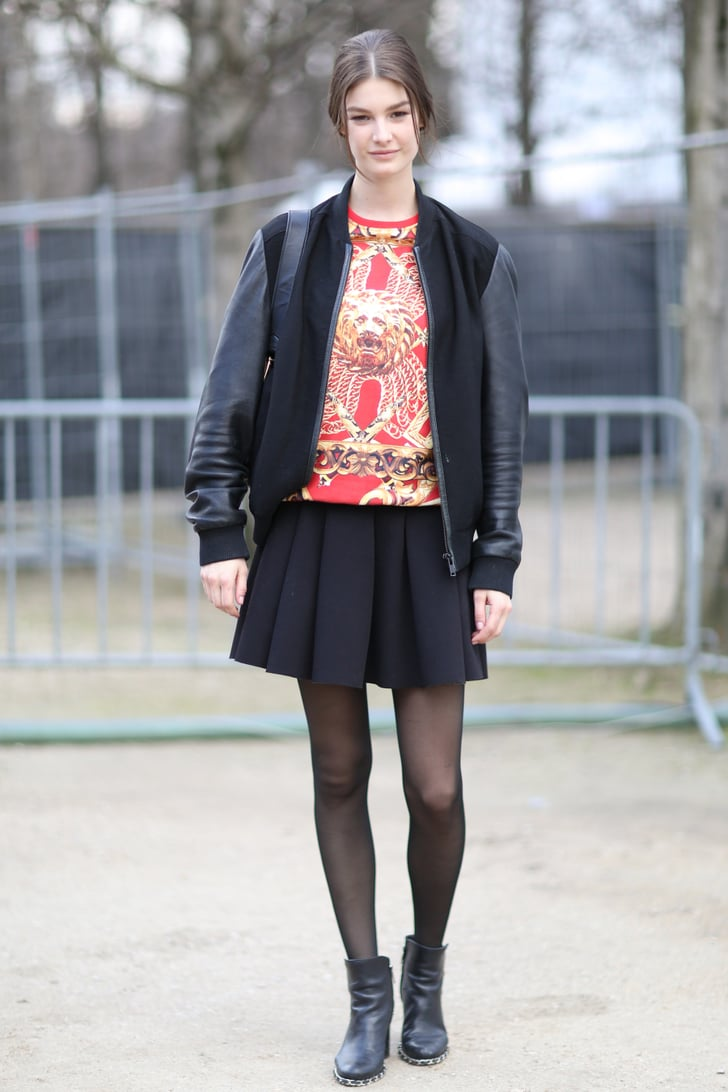 Pfw Model Street Style Day Eight Model Street Style At Paris Fashion Week Fall 2014 Popsugar