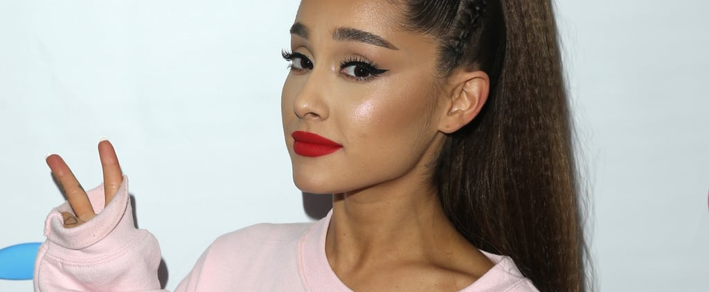 Ariana Grande Pink Glossy Lips