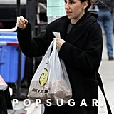 Zosia Mamet grabbed food on Tuesday in NYC between filming scenes for Girls.