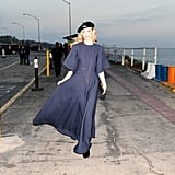 And Jaime King, Who Flaunted Her Navy Gown and Signature Dior Beret