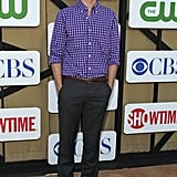 Matthew Gray Gubler wore a purple checkered shirt to the Summer TCA Press Tour party.