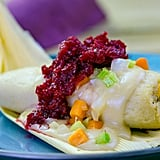 Turkey and Stuffing Tamale With Cranberry Relish