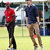 Prince Harry Gets Adorably Animated While Playing Cricket With Kids in the Caribbean