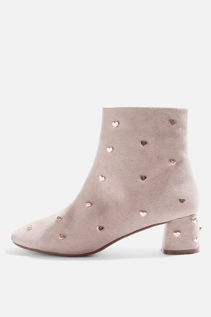 Topshop Bee Heart Stud Ankle Boots