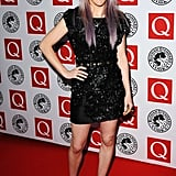 Ellie Goulding wore a Mulberry Autumn dress to the awards.