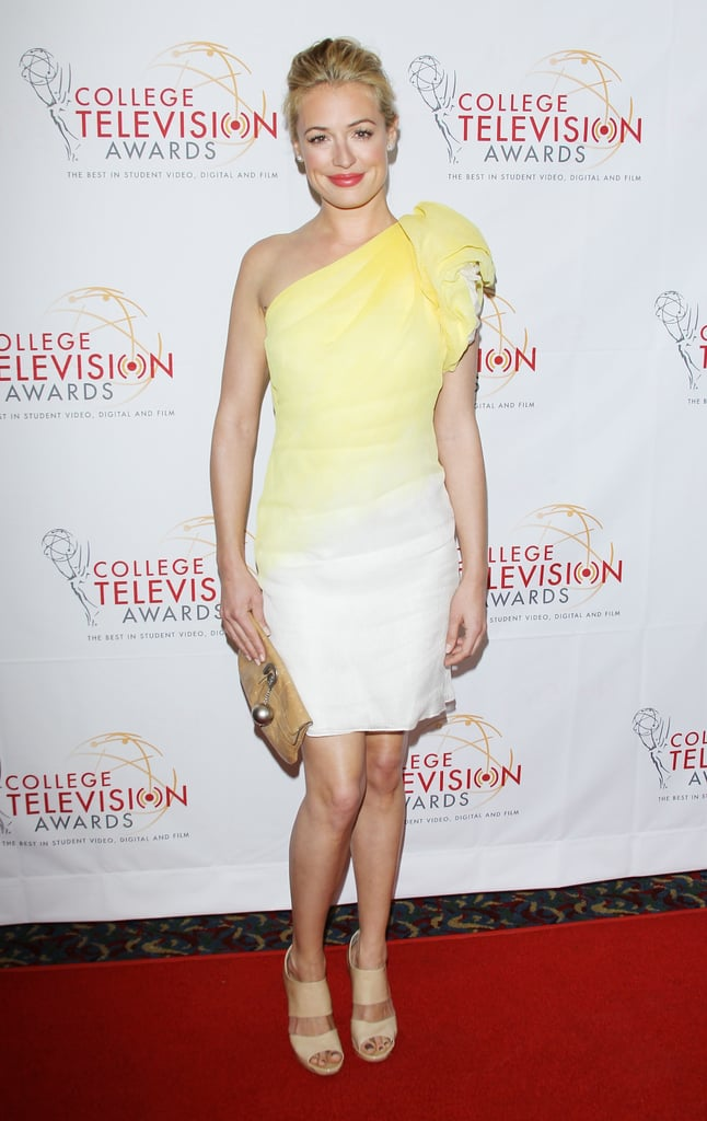 Cat Deeley looked ethereal and sun-kissed in a yellow ombré Tadashi Shoji number at the 33rd annual College Television Awards in March.