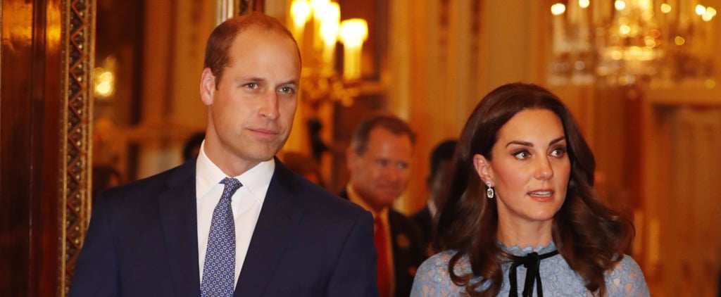 Kate Middleton Definitely Stunned Everyone in the Room With Her Blue Lace Maternity Dress
