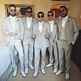 Rob suited up with his groomsmen.