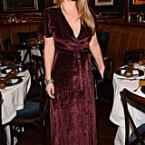 Princess Diana's niece sported a velvet dress for a dinner in December 2017.