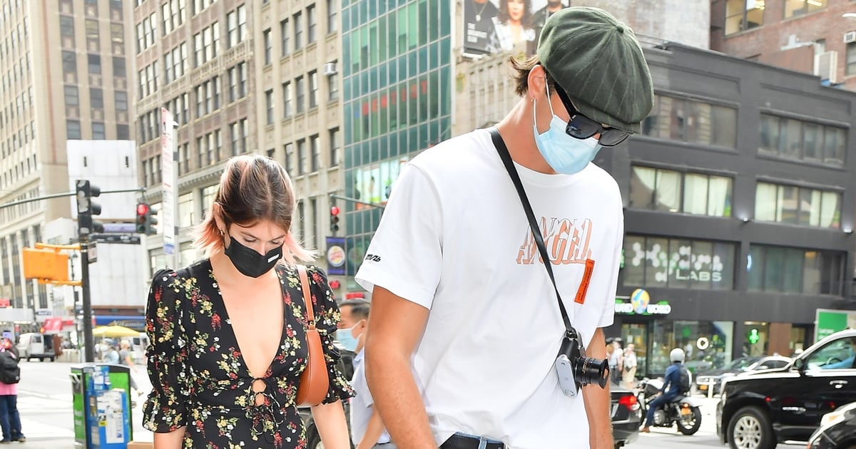 Kaia Gerber Hangs Out With Jacob Elordi Again, This Time in a Low-Cut Floral Minidress