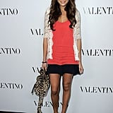 Ashley Madekwe played it pretty and a little more casual in a lacy cardigan and ankle-strap platforms.