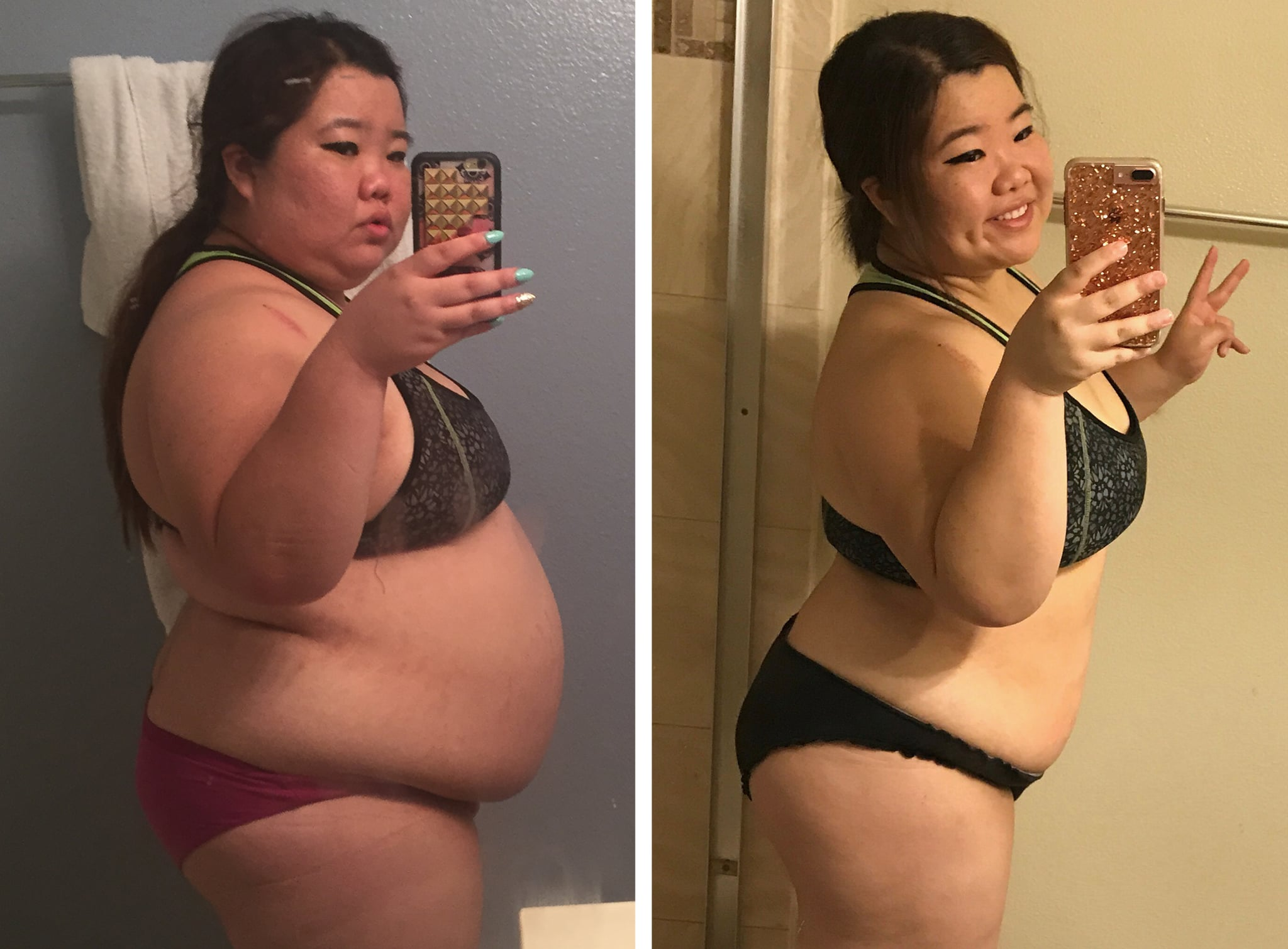 before and after weight loss story popsugar fitness