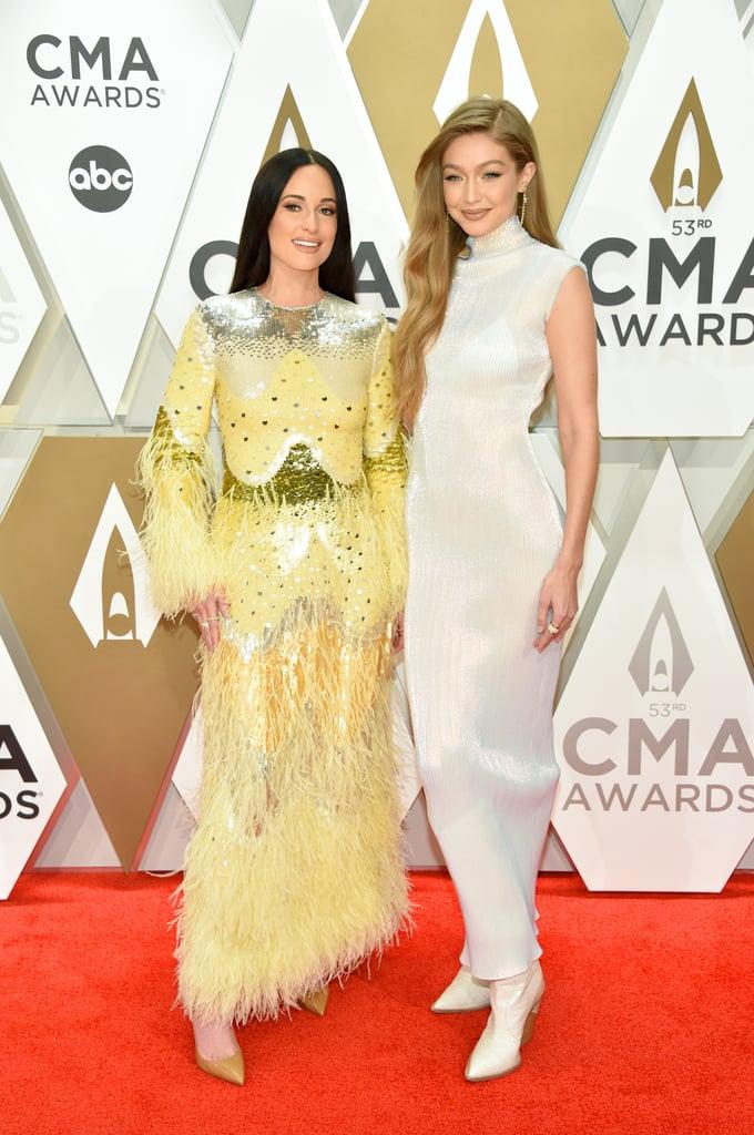 Kacey Musgraves and Gigi Hadid at the 2019 CMA Awards