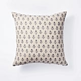 Floral Block Print Throw Pillow