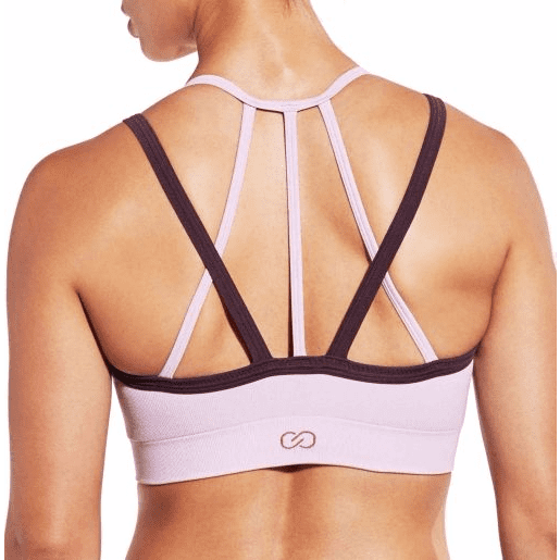 Inner Power Strappy Halter Seamless Heather Sports Bra