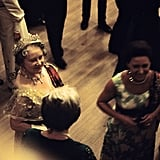 The queen mother and Princess Margaret