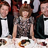 Christopher Bailey, Anna Wintour, and Sam Smith