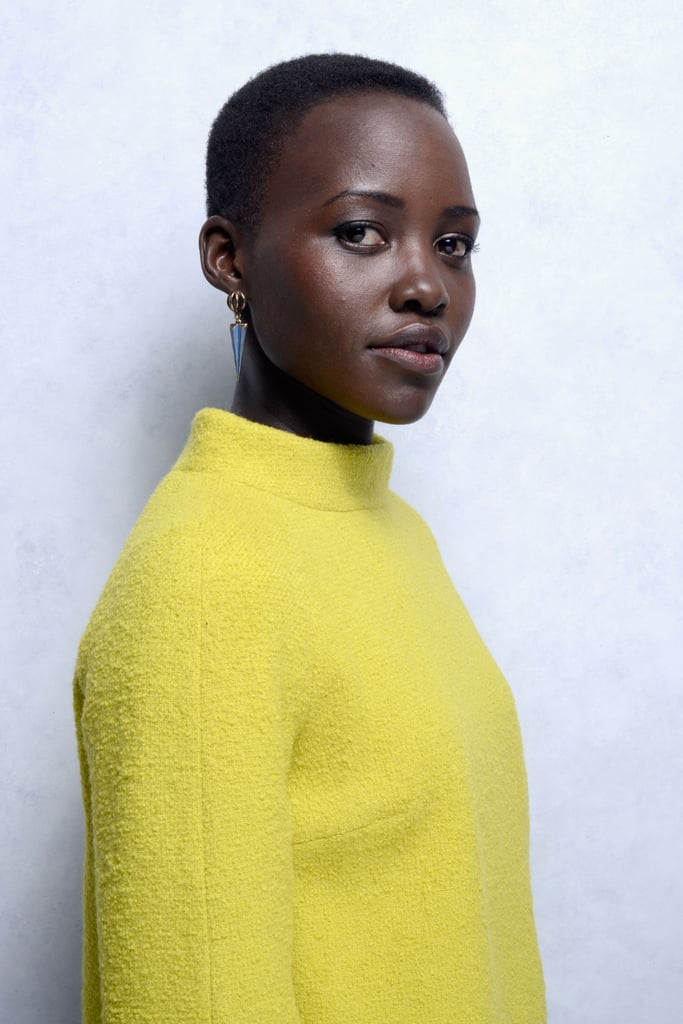 To offset her bright chartreuse outfit, Lupita stuck to creams and nudes for her 12 Years a Slave portrait at the 2013 Toronto International Film Festival.