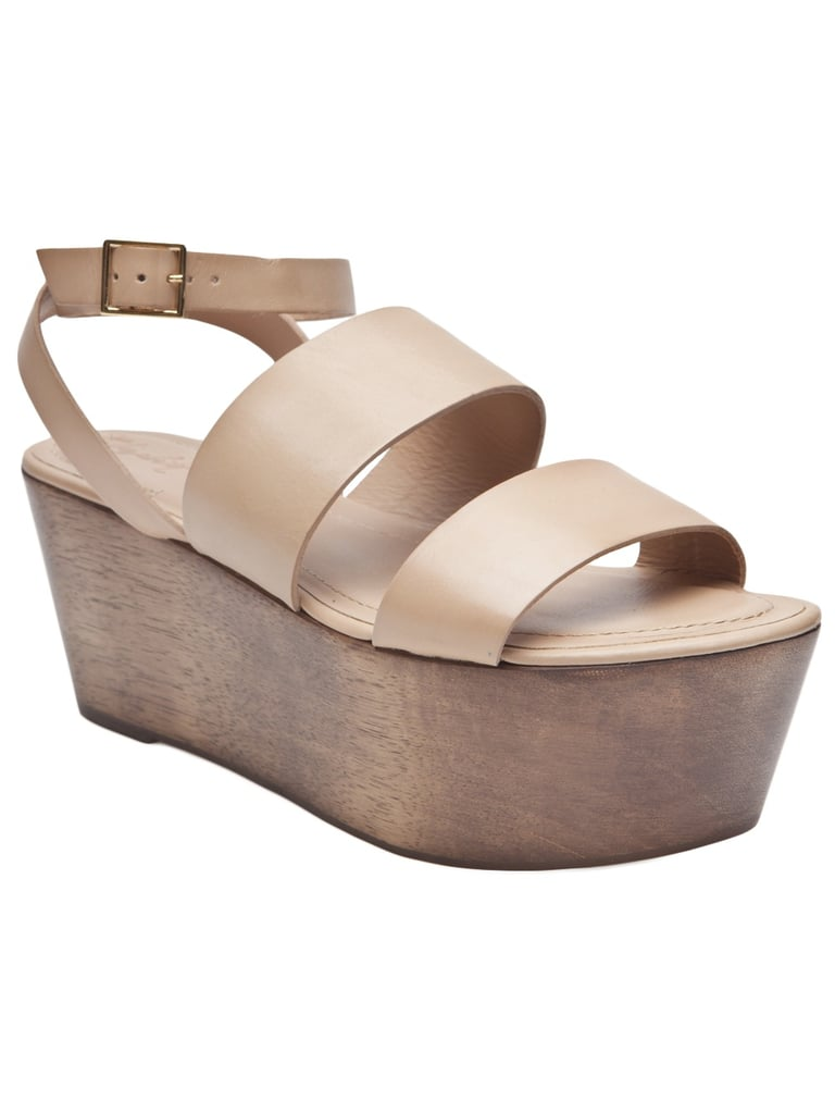 The flatform trend hit big last Spring, and it doesn't seem to be waning this year. We love these thick-strapped wooden shoes.  Elizabeth and James Platform Sandal ($265)