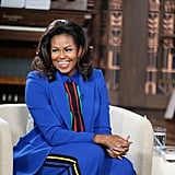Michelle Obama Blue Elie Saab Suit 2019