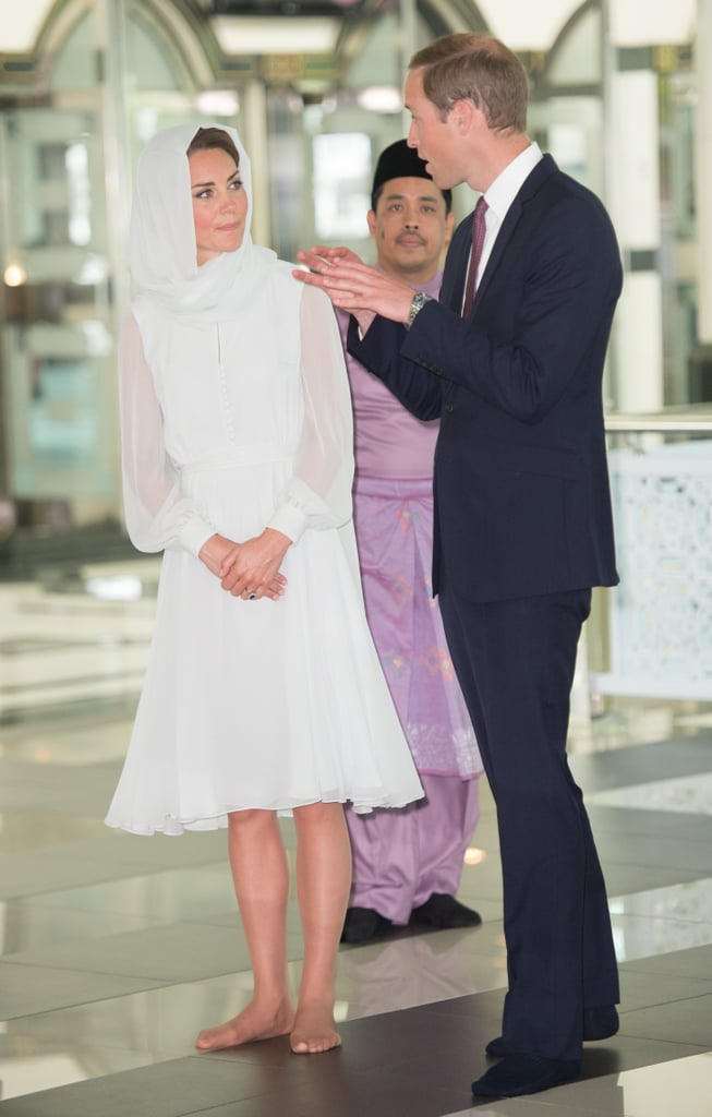 Kate and William visited the Assyakirin Mosque in Kuala Lumpur, Malaysia, during the couple's Asia tour in September 2012.