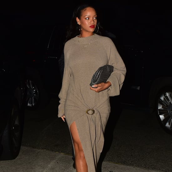 Rihanna's Brown Dress 2019
