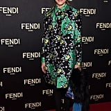 Olivia Palermo walked the red carpet at Fendi's flagship store opening.