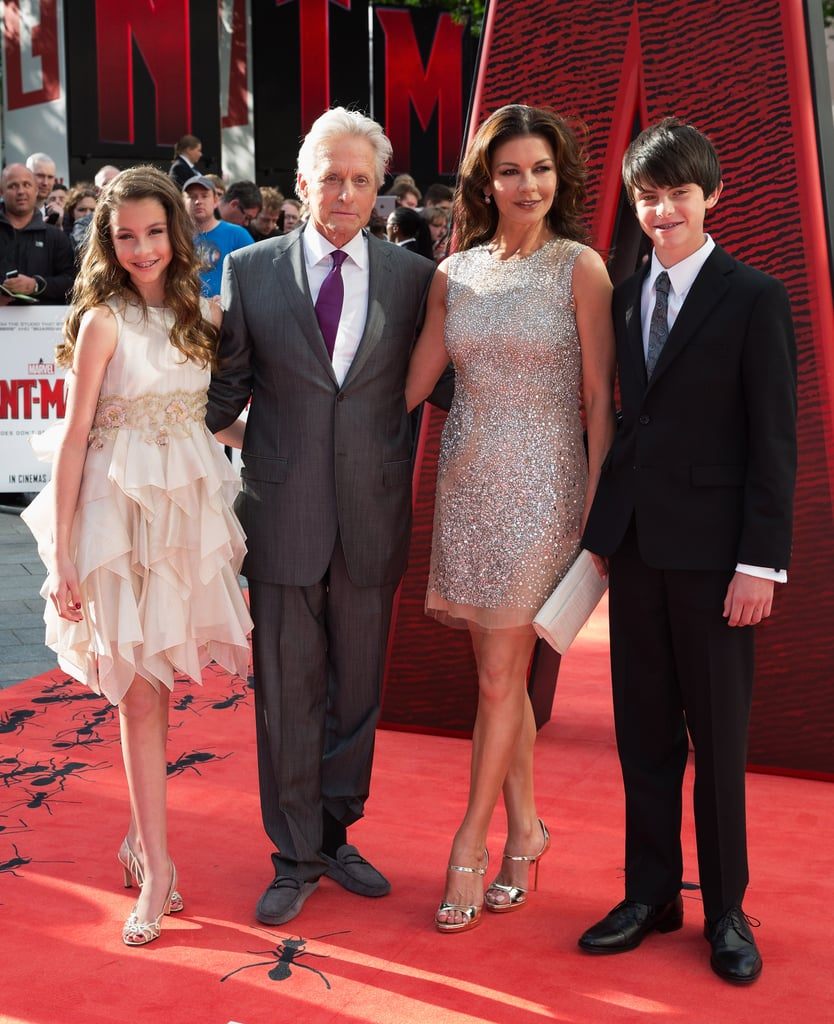 Michael Douglas Catherine Zeta-Jones Kids Ant-Man Premiere ...