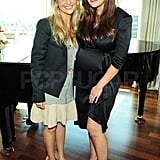 Lindsay posed with her pal and fellow mom Sarah Michelle Gellar.