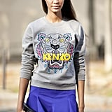 Joan Smalls could have very well been shooting a Kenzo campaign.
