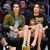 Kendall Jenner and Bella Hadid Prove That Sneakers Aren't the Only Shoes You Can Wear to a Basketball Game