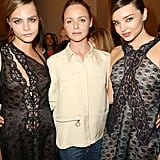 Cara Delevingne, Stella McCartney, and Miranda Kerr shared a moment backstage.