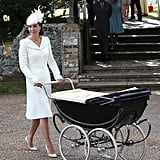 Kate's Wearing Her Ivory Alexander McQueen Look at Princess Charlotte's Christening in 2015