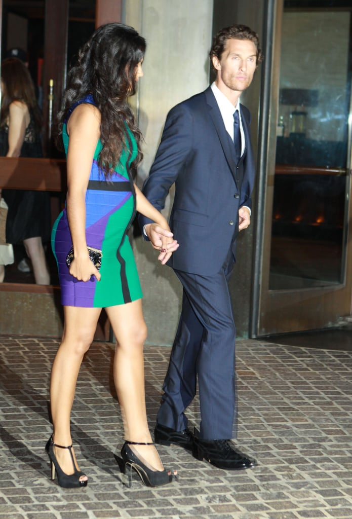 Matthew McConaughey and Camila Alves went to a screening of Killer Joe in NYC.