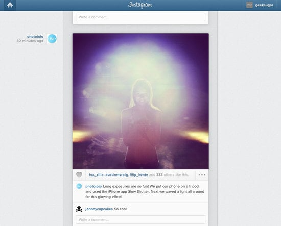 Instagram Feed on the Web
