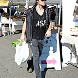 When Ian Somerhalder Picked Up Some Groceries at the Farmers Market