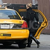 Guess who's catching a cab?